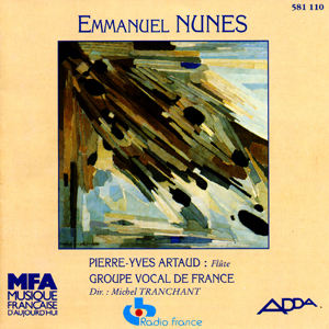 Minnesang, Grund d'Emmanuel Nunes, Groupe Vocal de France (Direction Michel Tranchant)